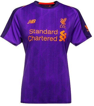 Camisa feminina oficial New Balance Liverpool 2018 2019 II
