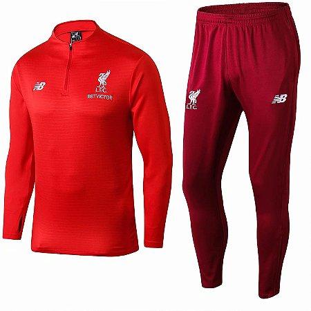 Kit treinamento oficial New Balance Liverpool 2018 2019 vermelho
