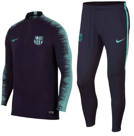 Kit treinamento oficial Nike Barcelona 2018 2019 Azul e verde