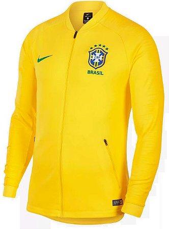 Jaqueta oficial Nike seleção do Brasil 2018 amarela