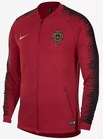 Jaqueta oficial Nike seleção de Portugal 2018 vermelha