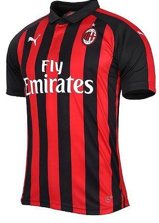 Resultado de imagem para Camisa Milan 2019