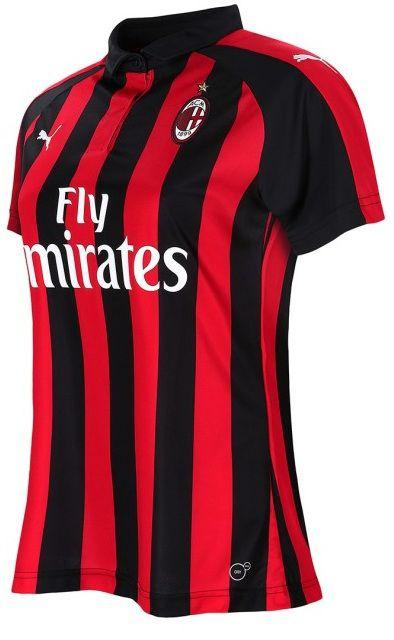 Camisa feminina oficial Puma Milan 2018 2019 I