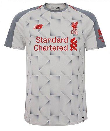 Camisa oficial New Balance Liverpool 2018 2019 III jogador