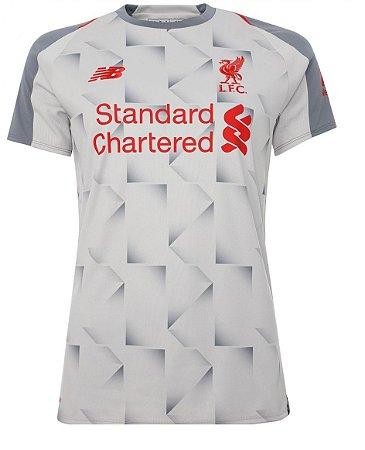 Camisa feminina oficial New Balance Liverpool 2018 2019 III
