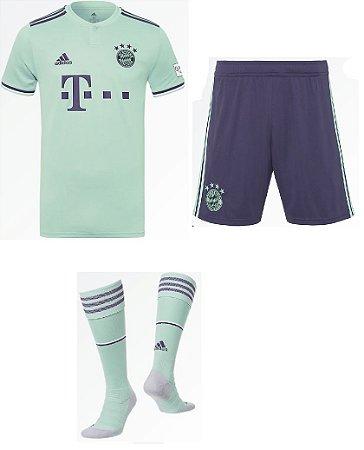 Kit adulto oficial Adidas Bayern de Munique 2018 2019 II jogador