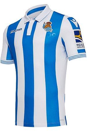Camisa oficial Macron Real Sociedad 2018 2019 I jogador