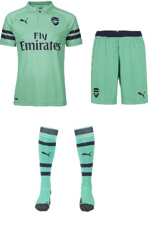 Kit adulto oficial Puma Arsenal 2018 2019 III jogador