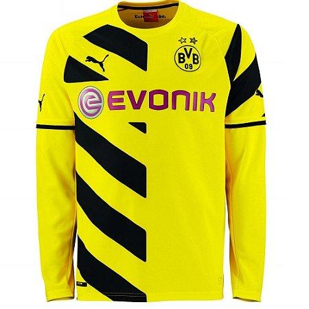 Camisa oficial manga comprida Borussia Dortmund 2014 2015 I jogador