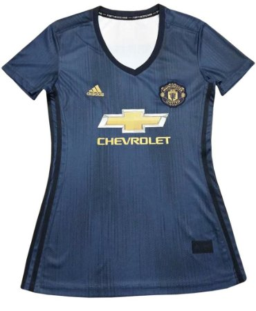 Camisa feminina oficial Adidas Manchester United 2018 2019 III
