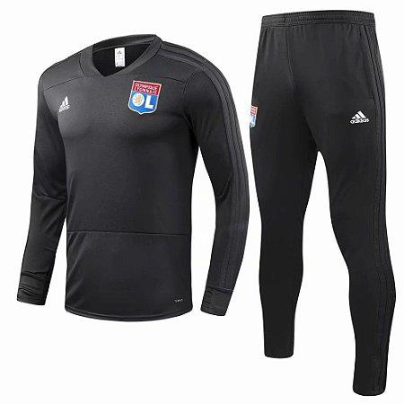 Kit treinamento oficial Adidas Lyon 2018 2019 Preto