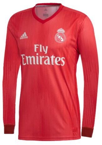 Camisa oficial Adidas Real Madrid 2018 2019 III jogador manga comprida