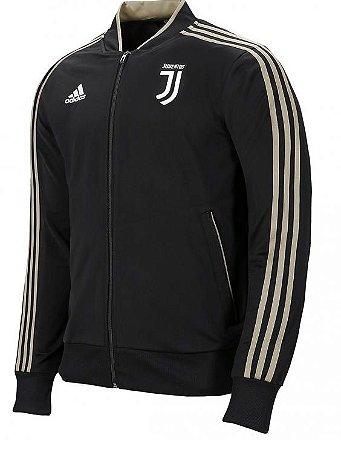Jaqueta oficial Adidas Juventus 2018 2019 Preta e dourada