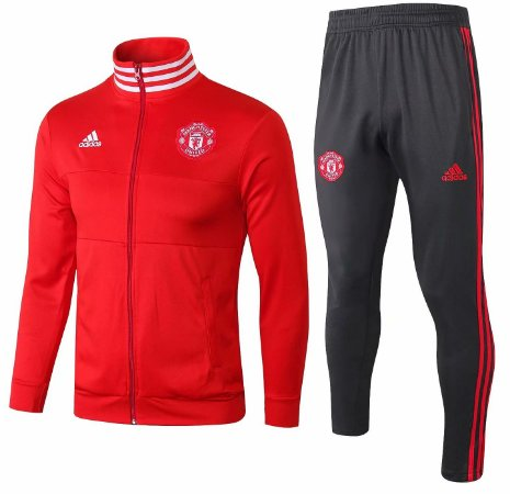 Kit treinamento oficial Adidas Manchester United 2018 2019 vermelho