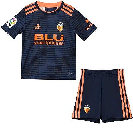 Kit infantil oficial Adidas Valencia 2018 2019 II jogador