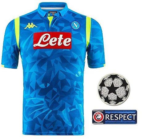 Camisa oficial Kappa Napoli 2018 2019 I jogador champions league