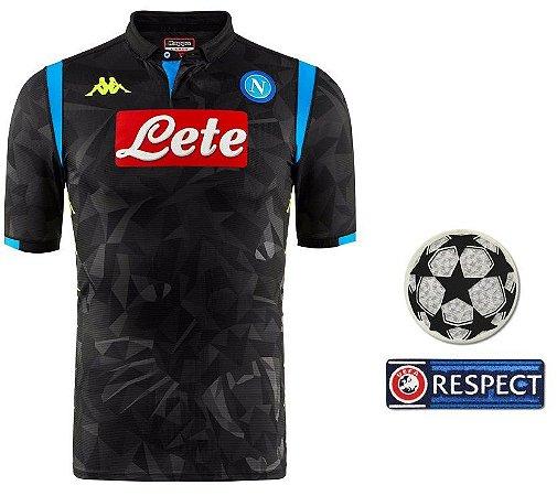 Camisa oficial Kappa Napoli 2018 2019 II jogador Champions League