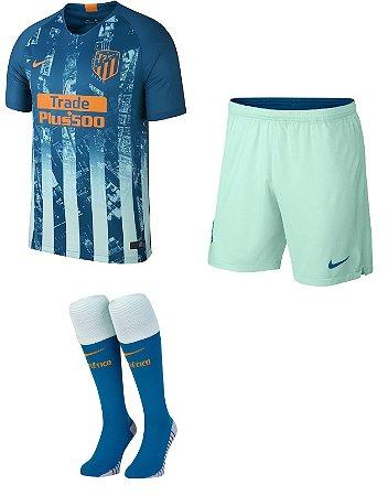 Kit adulto oficial Nike Atletico de Madrid 2018 2019 III jogador