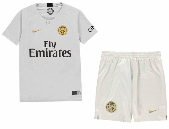 Kit infantil oficial Nike PSG 2018 2019 II jogador