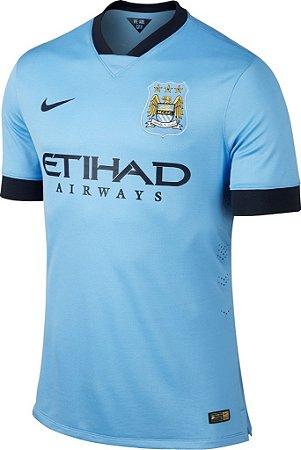 Camisa oficial Nike Manchester City 2014 2015 I Jogador PRONTA ENTREGA
