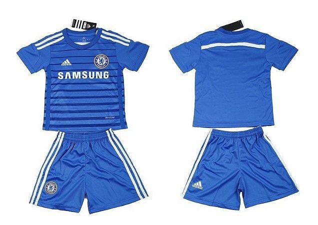Kit oficial infantil Adidas Chelsea 2014 2015 I jogador