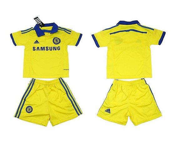 Kit oficial infantil Adidas Chelsea 2014 2015 II jogador