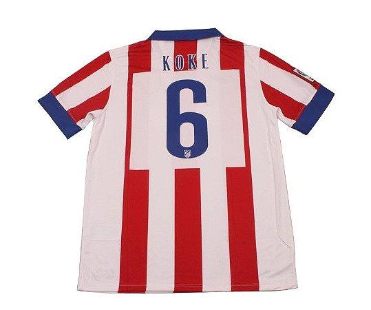 Camisa oficial Nike Atlético de Madrid 2014 2015 6 KOKE pronta entrega