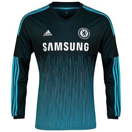 Camisa oficial Adidas Chelsea 2014 2015 III jogador manga comprida