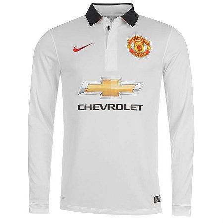 Camisa oficial Nike Manchester United 2014 2015 II jogador manga comprida