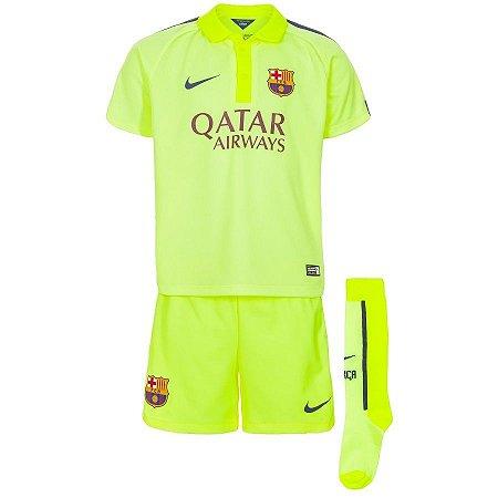 Kit infantil oficial Nike Barcelona 2014 2015 III jogador