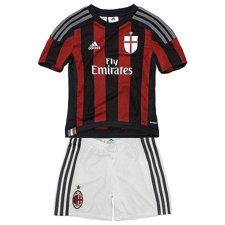 Kit oficial infantil Adidas Milan 2015 2016 I jogador