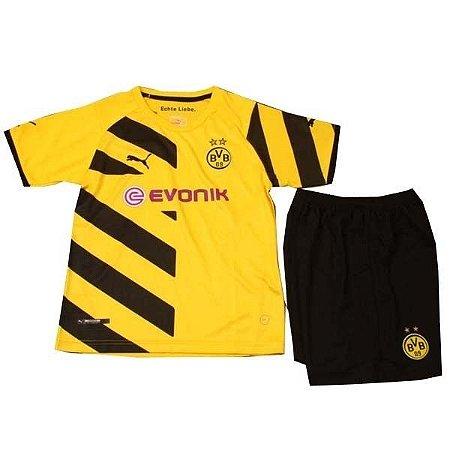 Kit oficial infantil Puma Borussia Dortmund 2014 2015 I jogador