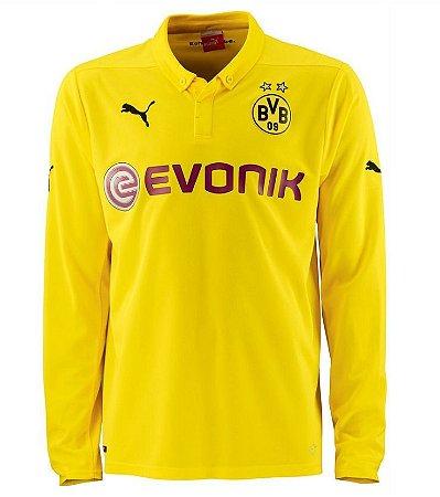 Camisa oficial Puma Borussia Dortmund 2014 2015 III jogador manga comprida
