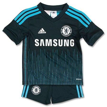 Kit oficial infantil Adidas Chelsea 2014 2015 III jogador