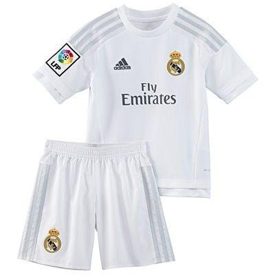 Kit infantil oficial Adidas Real Madrid 2015 2016 I jogador