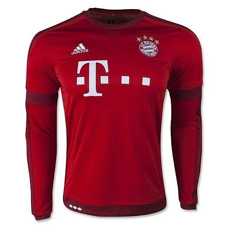 Camisa oficial Adidas Bayern de Munique 2015 2016 I jogador manga comprida