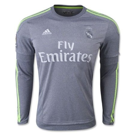 Camisa oficial Adidas Real Madrid 2015 2016 II Jogador manga comprida