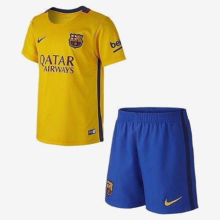 Kit oficial infantil Nike Barcelona 2015 2016 II jogador