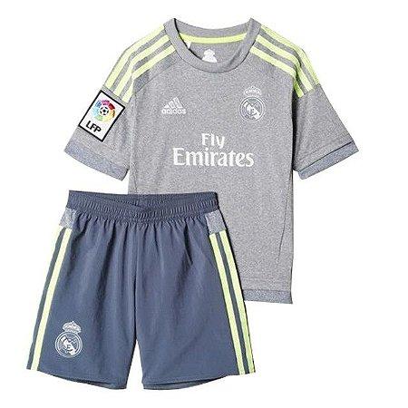 Kit infantil oficial Adidas Real Madrid 2015 2016 II jogador