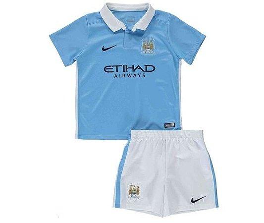 Kit oficial infantil Nike Manchester City 2015 2016 I jogador