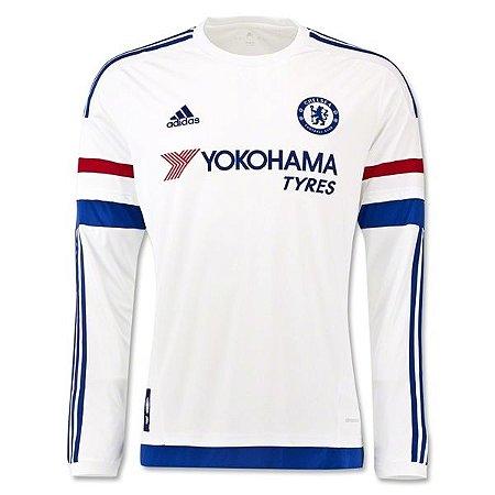 Camisa oficial Adidas Chelsea 2015 2016 II jogador manga comprida