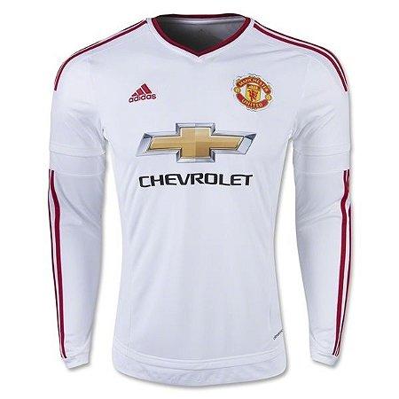 Camisa oficial Adidas Manchester United 2015 2016 II jogador manga comprida