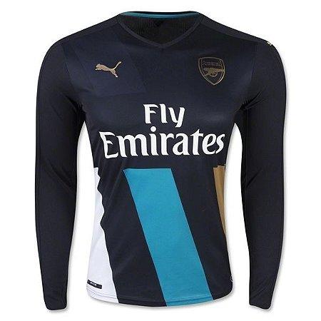 Camisa oficial Puma Arsenal 2015 2016 III jogador manga comprida