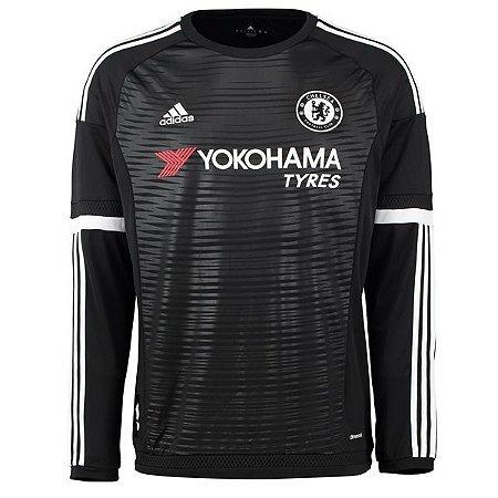 Camisa oficial Adidas Chelsea 2015 2016 III jogador manga comprida