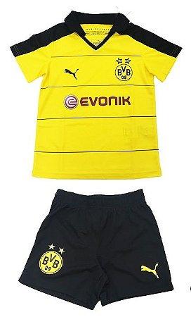 Kit oficial infantil Puma Borussia Dortmund 2015 2016 I jogador