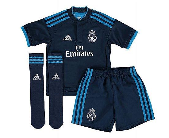 Kit oficial infantil Adidas Real Madrid  2015 2016 III jogador