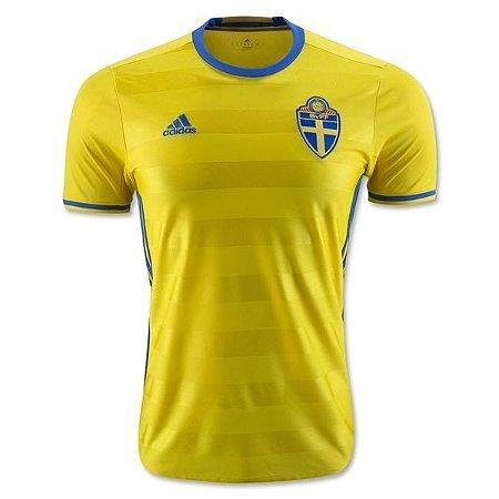 Camisa oficial adidas seleção da Suécia Euro 2016 I jogador