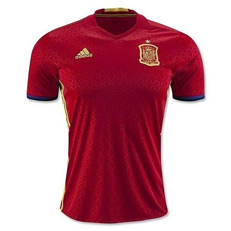Camisa oficial adidas seleção da Espanha Euro 2016 I jogador