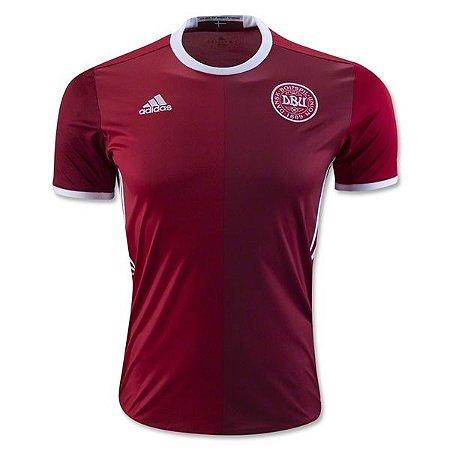 Camisa oficial adidas seleção da Dinamarca 2016 I jogador
