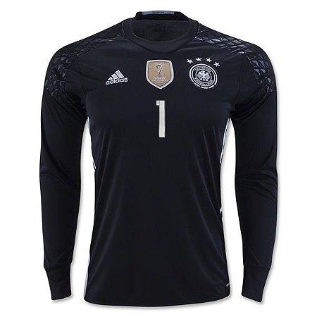 Camisa oficial adidas seleção da Alemanha Euro 2016 I Goleiro